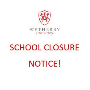 School closure notice image