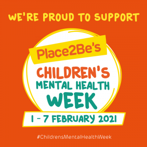 Logo for Place2Be's Children's Mental Health Week 2021